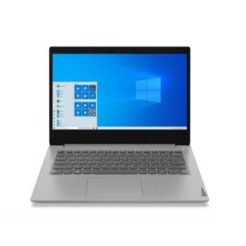 "Лаптоп Lenovo IdeaPad 3 14IIL05 (81WD00C2BM)(сив), двуядрен Ice Lake Intel Core i3-1005G1 1.2/3.4 GHz, 14"" (35.56 cm) Full HD IPS Anti-glare Display, (HDMI), 8GB DDR4, 512GB SSD, 2x USB 3.1, No OS  image"
