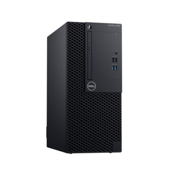 Настолен компютър Dell OptiPlex 3070 MT (#DELL02758), осемядрен Coffee Lake Intel Core i7-9700 3.0/4.7 GHz, 8GB DDR4, 256GB SSD, 5x USB 3.1, клавиатура и мишка, Linux image