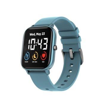 "Смарт часовник Canyon CNS-SW74BL, 1.3"" (33.0 мм) LCD дисплей, до 5 дни живот на батерията, водоустойчив, Bluetooth, син  image"