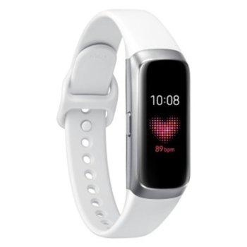 Смарт гривна Samsung SM-R370N Galaxy Fit, акселерометър, Gyro, HRM, Bluetooth, Wi-Fi, за Android, бяла image