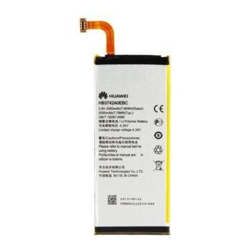 Батерия (оригинална) Huawei HB3742A0EBC за Huawei Ascend P6-U06, Ascend P6-C00, Ascend P6-T00, Ascend P7 mini, Ascend G6, 2000mAh/3.8V, Bulk image