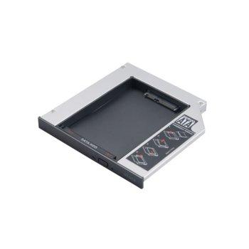 """Адаптор DVD Slim към 2.5"""" (6.35 cm) SATA HDD/SSD, 12.5mm image"""