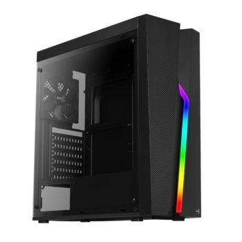 Кутия AeroCool Bolt RGB, ATX, mATX, MINI-ITX, 1 x USB3.0, черна, без захранване image