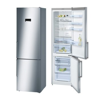 Хладилник с фризер Bosch KGN 39 XI 46, клас A+++, 366 л. общ обем, свободностоящ, 182 kWh/годишно, NoFrost, LED вътрешно осветление, календар за замразени продукти, инокс  image