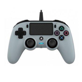 Геймпад Nacon Wired Compact Controller Camo, жичен, Windows/PS4, USB, сив image