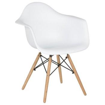 Трапезен стол Carmen 9959, полипропилен, бял image