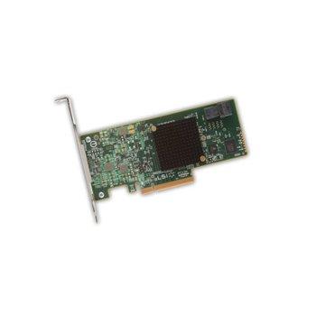 Контролер Broadcom SAS 9300-4I, от PCI-Express 3.0 x8(м) към 1x MiniSAS HD SFF8643, SATA/SAS 6Gb/12Gb/s, Fusion MPT 2.5 image