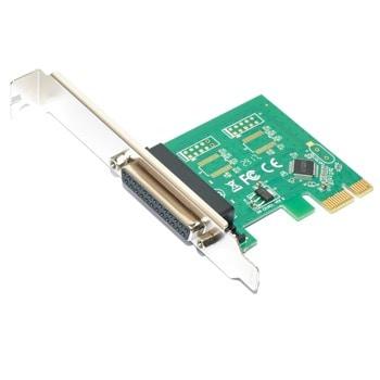 Контролер Makki MAKKI-PCIE-PARALLEL-V1, от PCI-E x1 към LPT Parallel(DB-25)(ж) image