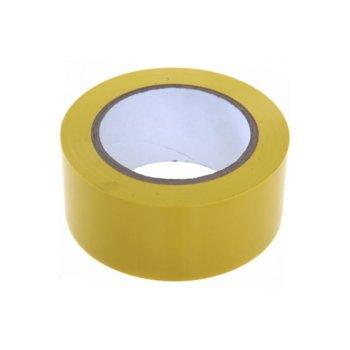 Цветно тиксо, подходящо за естествени и изкуствени тъкани, метал, дърво, мрежи, неопрен, пластмаси, ремъци, кожи, стъкла, въжета, гуми и други, широчина 4.8см, дължина 60м, жълто image