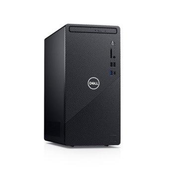 Настолен компютър Dell Inspiron 3881 MT (5397184444658), шестядрен Comet Lake Intel Core i5-10400 2.9/4.3 GHz, 8GB DDR4, 256GB SSD & 1TB HDD, 1x USB 3.2 Gen 2 Type-C, клавиатура и мишка, Windows 10 Home image