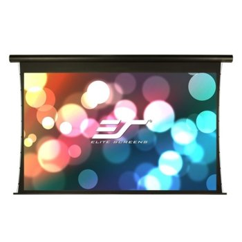 "Екран Elite Screens Saker Tension SKT100UHW-E24, за стена, Black, 2215 x 1245 мм, 100"" (254 cm), 16:9 image"