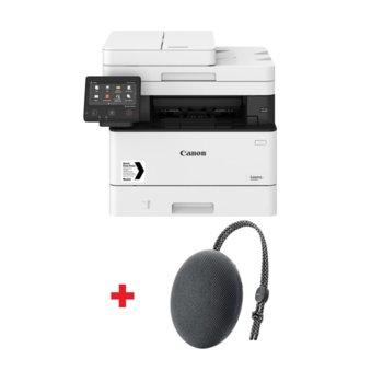 Мултифункционално лазерно устройство Canon i-SENSYS MF446x в комплект с тонколона Huawei Sound Stone Bluetooth Speaker CM51 (черен), монохромен принтер/копир/скенер, 600 x 600 dpi, 38 стр./мин., USB, LAN, Wi-Fi, A4 image