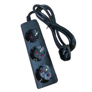 Разклонител Eaton 1010081, IEC-Schuko 10A, 3 гнезда, черен image