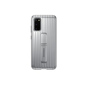 Калъф за Samsung Galaxy S20, хибриден, Samsung Protective Standing Cover EF-RG980CB, удароустойчив, с поставка, сив image