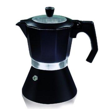 Кубинска кафеварка Zephyr ZP 1173 DI12, за 12 чаши, подходяща и за индукционни котлони, черна image