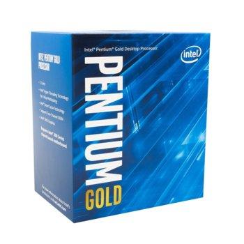 Процесор Intel Pentium Gold G5500 двуядрен (3.8GHz, 4MB Cache, 350MHz-1.10GHz GPU, LGA1151) BOX, с охлаждане image