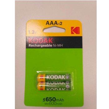 Акумулаторна батерия Kodak, AAA, 650mAh, 1.2V, Ni-MH, 2 бр. image