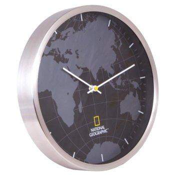 Часовник Bresser National Geographic 30 cm, аналогово указание, cтенен, черно/бял image