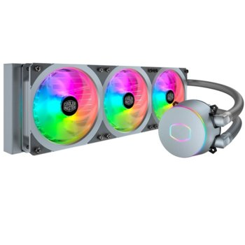 Водно охлаждане за процесор Cooler Master MasterLiquid ML360P Silver, Intel LGA 2066/2011-v3/2011/1151/1150/1155/115/1366/775, AM4/AM3+/AM3/AM2+/AM2/FM2+/FM2/FM1 image