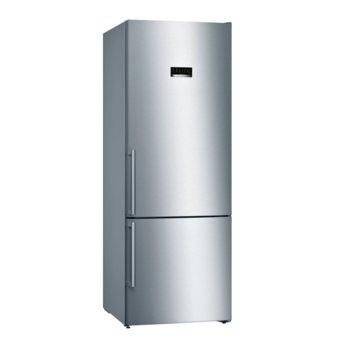 Хладилник с фризер Bosch KGN56XIDP, клас A+++, 505л. общ обем, свободностоящ, 217 kWh/годишно, No Frost технология, енергоспестяваща настройка, инокс image