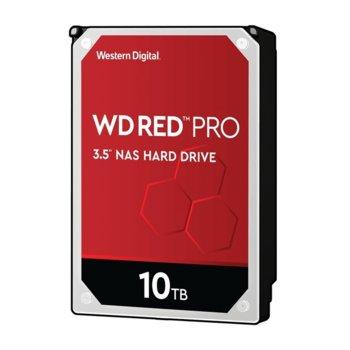 """Твърд диск 10TB WD Red Pro NAS, SATA 6Gb/s, 7200 rpm, 256MB кеш, 3.5"""" (8.89cm) image"""