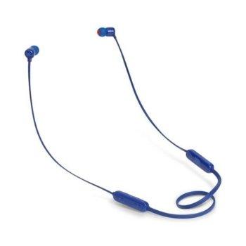 Слушалки JBL T110BT, безжични, микрофон, до 6 часа работа, сини image