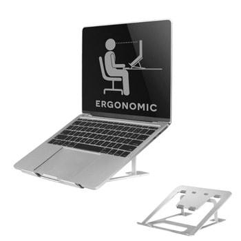 """Стойка за лаптоп NewStar NSLS085SILVER, от 10"""" до 17"""", 6 степени на височина, сгъваема, до 5кг., сребриста image"""