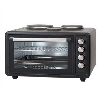 Готварска печка Zephyr ZP 1441 M40LC, 2 броя нагревателни зони, 40 л. обем на фурната, 3 степени на мощност, 3800W, черна image