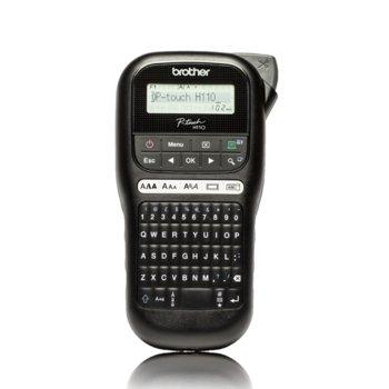 Етикетен принтер Brother PT-H110, преносим, ширина лентата до 12мм, LCD дисплей, 3 шрифта, Кирилица image