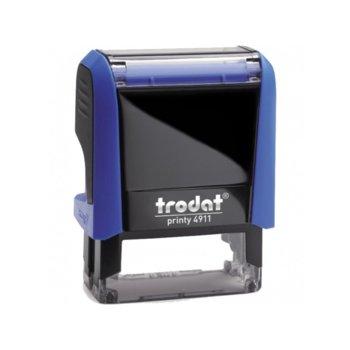 Автоматичен печат Trodat 4911 син, 14/38 mm, правоъгълен image