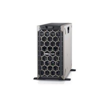 Сървър Dell PowerEdge T440 (DELL02570), дванадесет ядрен Intel Xeon Silver 4214 2.20 GHz, 16GB RDIMM DDR4, 2x 480GB SSD, 2x GbE LOM, без OS, 750W image