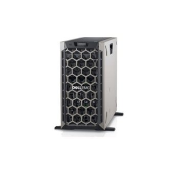 Сървър Dell PowerEdge T440 (DELL02570), дванадесет ядрен Intel Xeon Silver 4214 2.20 GHz, 16GB RDIMM DDR4, 2x 480GB SSD, 2x GbE LOM, без OS, 750W image