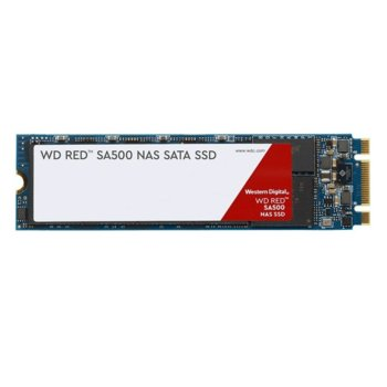 Памет SSD 500GB, Western Digital WD Red SA500, SATA III, M.2, скорост на четене 560 MB/s, скорост на запис 530 MB/s image