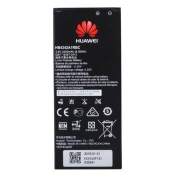 Батерия (оригинална) Huawei HB4342A1RBC, за Huawei Y6, Honor 4A, 2200mAh/3.8V, Bulk image