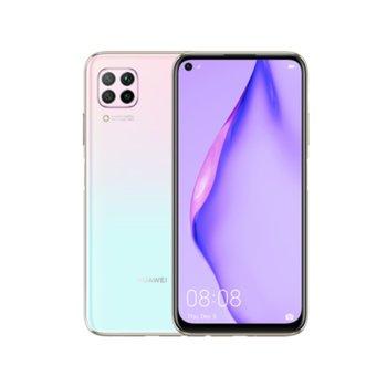 "Смартфон Huawei P40 Lite (розов) поддържа 2 sim карти, 6.4"" (16.25 cm) FHD+ LCD дисплей, осемядрен Kirin 810 2.7GHz, 6GB RAM, 128GB Flash памет (+ microSD слот), 48.0 MP + 8.0 MP + 2.0 MP + 2.0 MP & 16.0 MP камера, Android, 183g image"