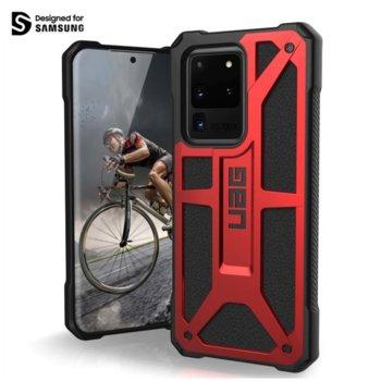 Калъф за Samsung Galaxy S20 Ultra, хибриден, Urban Armor Monarch 211991119494, удароустойчив, червен image