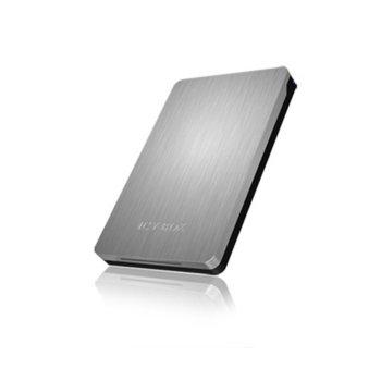"""Кутия 2.5"""" (6.35 cm) RaidSonic IB-234U31a HDD/SSD, USB 3.1, алуминиева, сребрист image"""