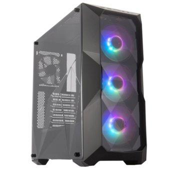 Кутия Cooler Master MasterBox TD500, ATX/Micro ATX/Mini ITX, 2x USB 3.0, страничен прозорец, черна, без захранване image