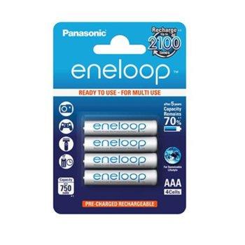 Батерии Panasonic Eneloop, AAA, 750mAh, 1.2V, Ni-MH, 4 бр. image