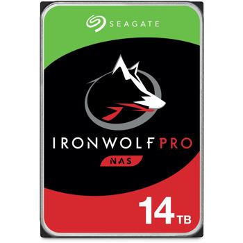 """Твърд диск 14TB Seagate IronWolf Pro (ST14000NE0008), SATA 6GB/s, 7200 rpm, 256MB, 3.5"""" (8.89 cm) image"""