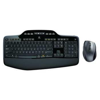 Комплект клавиатура и мишка Logitech Wireless Desktop MK710, безжични, USB, черни image