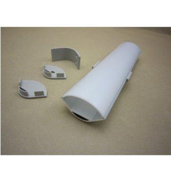 LED ъглов алуминиев профил M3030A-RМ, 30 x 30mm, 2m дължина, за двойни ленти до 20mm image