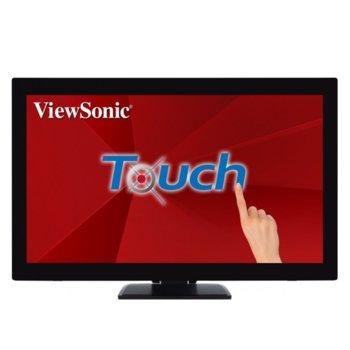 """Тъч Монитор ViewSonic TD2760, 27"""" (68.58 cm) VA панел, Full HD, 6 ms, 50000000:1, 300 cd/m2, DisplayPort, VGA, USB 3.0 image"""