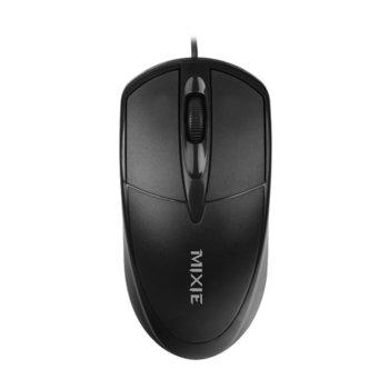 Мишка Mixie X2, оптична(1000dpi), USB, черна image