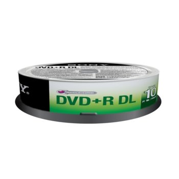 Sony 10 DVD+R DL 8.5GB Spindle (215min) product