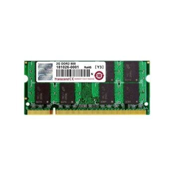 Памет 2GB DDR2 800MHz, SODIMM, Transcend, 1.8V image