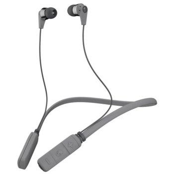 Слушалки Skullcandy INKD 2.0 Wireless, Bluetooth, микрофон, сиви image