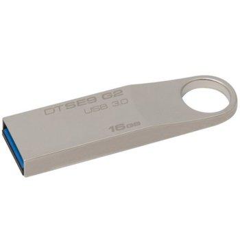 Памет 16GB USB Flash Drive, Kingston SE9 G2, USB 3.0, сребриста image