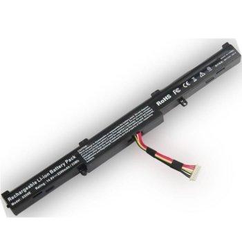 Батерия (заместител) за лаптоп Asus, съвместима с модели F450/F550/X450/X550/X750, 4-cell, 14.4V, 2600mAh image