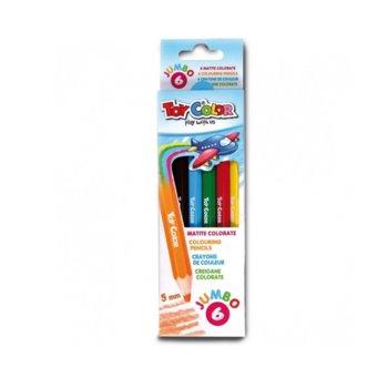 Цветни моливи Toy Color Jumbo, 6 броя, 5.0 mm image